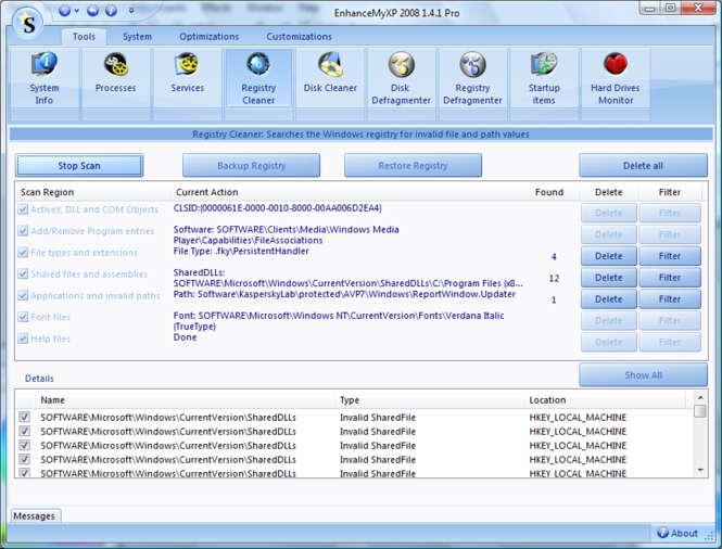 EnhanceMyXP Screenshot