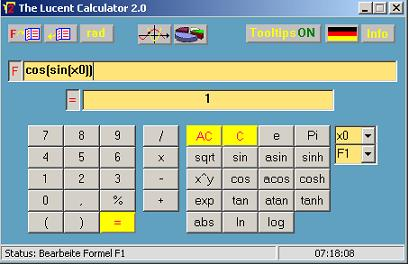 The Lucent Calculator 2.0 Screenshot 1