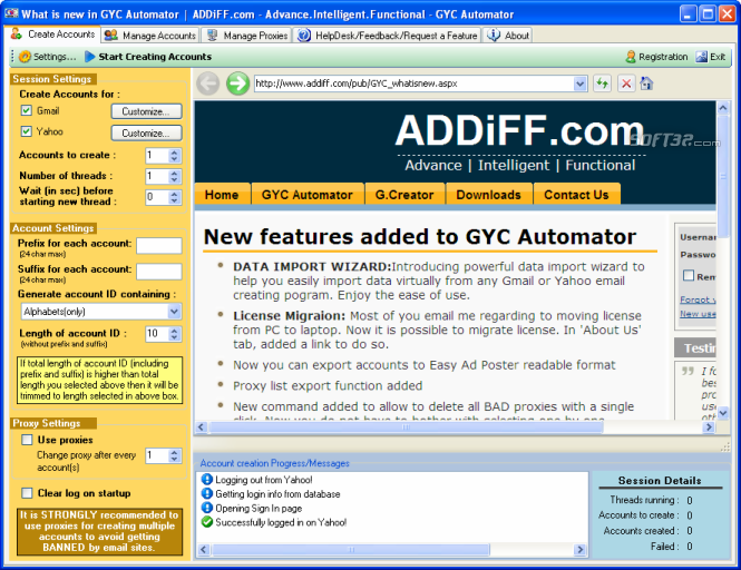 GYC Automator Screenshot 2