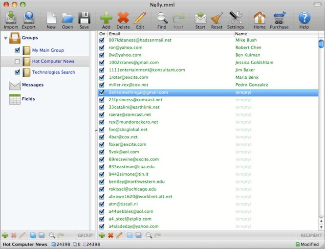 Mac Mass Mailer for Leopard Screenshot