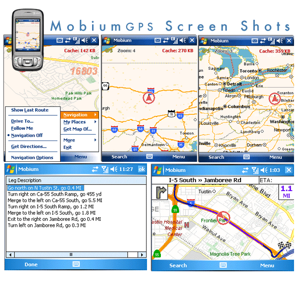 Mobium GPS Navigation System Screenshot
