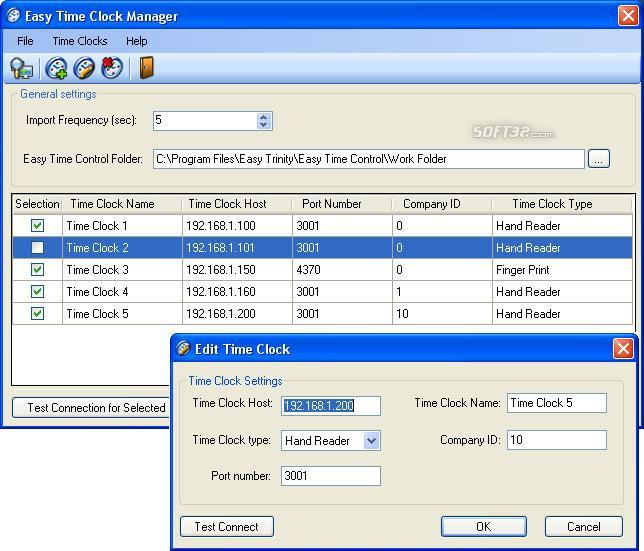 Easy Time Clock Driver Screenshot 2