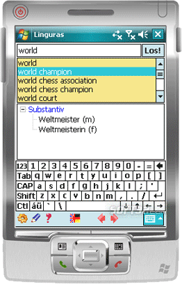 Linguras Professional Dictionary: En-Ge Screenshot 1