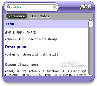 PHPQuickReference Screenshot 1