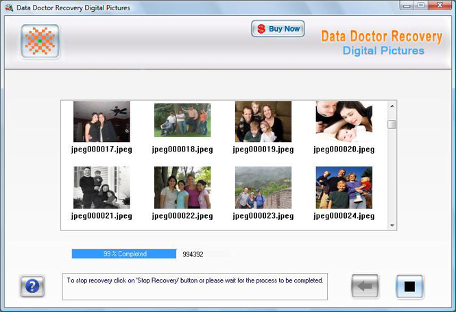 Digital Photo Rescue Software Screenshot 1