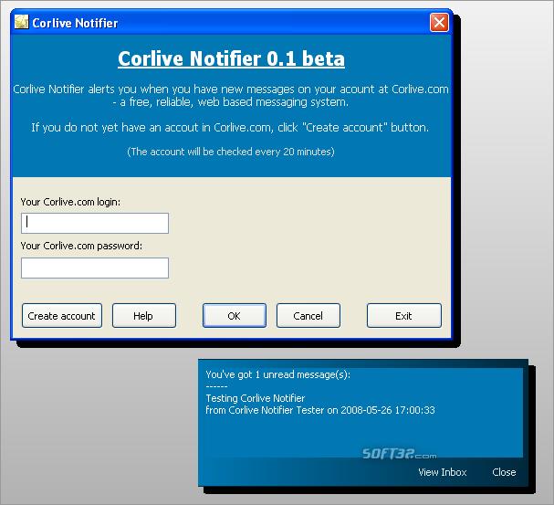 Corlive Notifier Screenshot 2