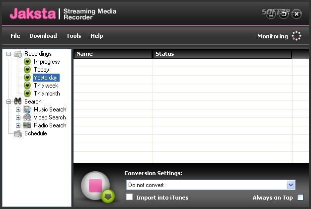 Jaksta Streaming Media Recorder and Converter Screenshot 2