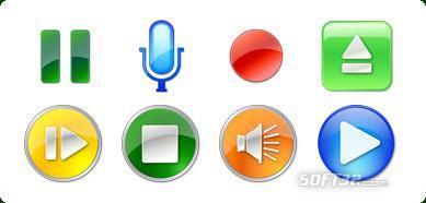 Icons-Land Vista Style Play/Stop/Pause Icon Set Screenshot 3