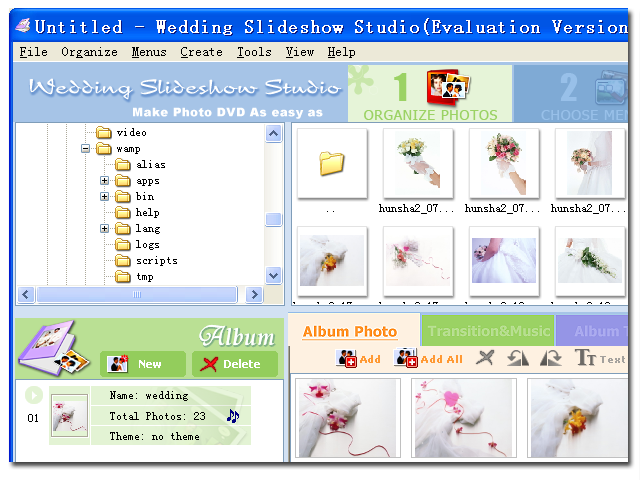 Wedding Slideshow Studio Screenshot