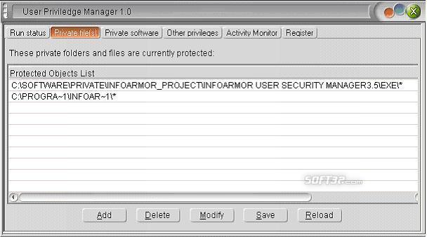 User Privilege Manager Screenshot 2