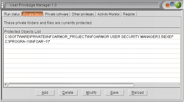 User Privilege Manager Screenshot 1