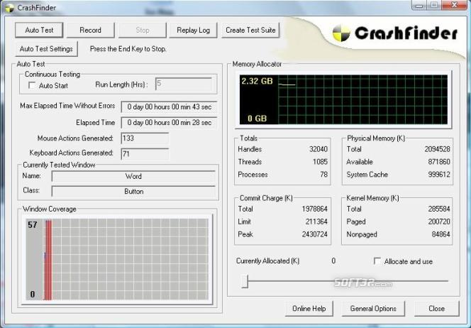 CrashFinder Screenshot 2