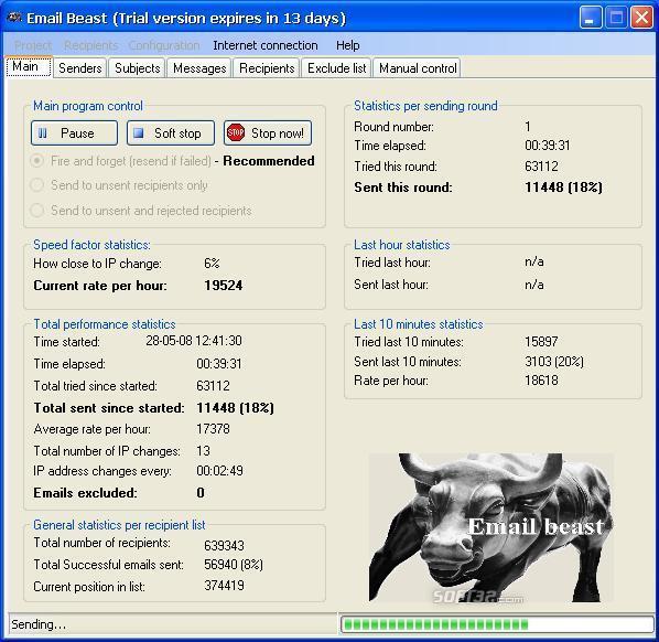 Email Beast Screenshot