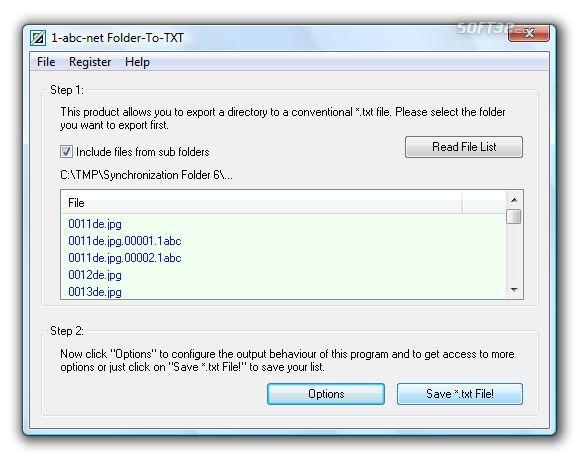 1-abc.net Folder-To-TXT Screenshot 2