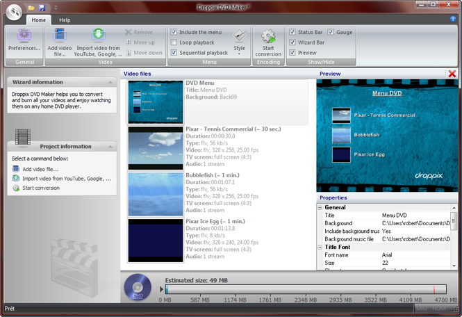 Droppix DVD Maker Screenshot 2