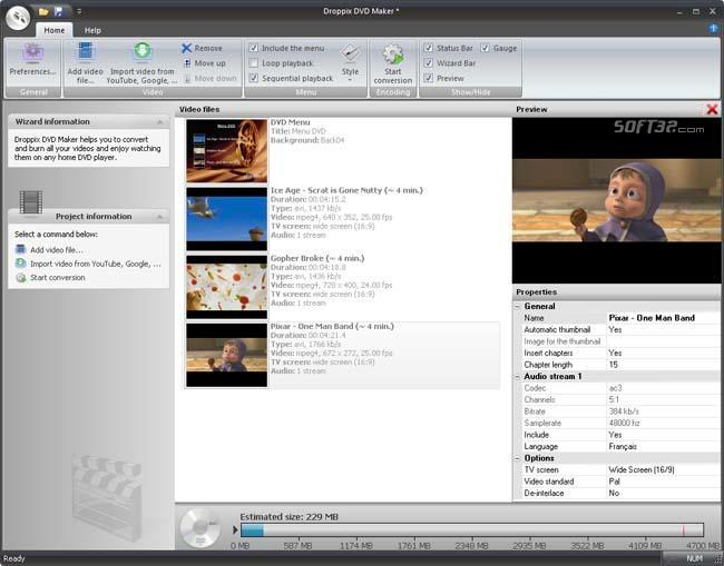 Droppix DVD Maker Screenshot 3