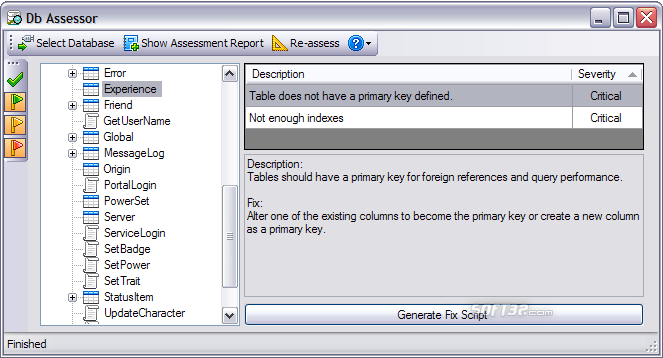 DB Assessor Screenshot