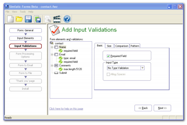 Simfatic Forms Screenshot