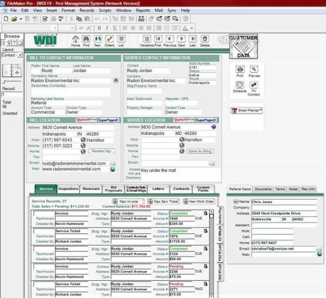 WDI FX Pest Control Software Screenshot 3