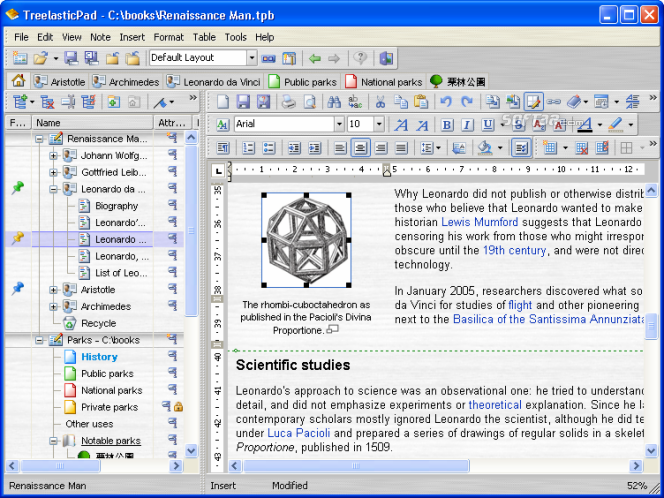 TreelasticPad Screenshot 3