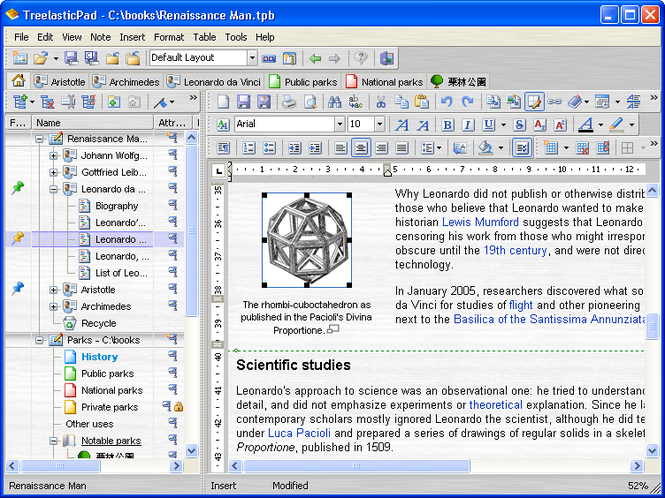 TreelasticPad Screenshot 1