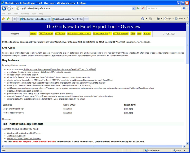 Gridview to Excel Export Tool Screenshot 1