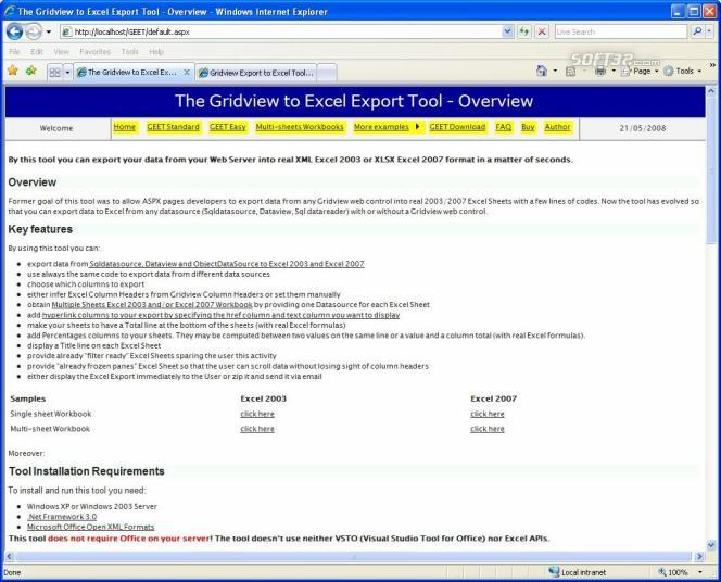 Gridview to Excel Export Tool Screenshot 3