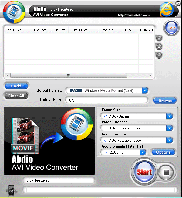 Abdio AVI Video Converter Screenshot