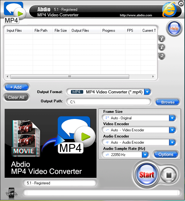 Abdio MP4 Video Converter Screenshot 1
