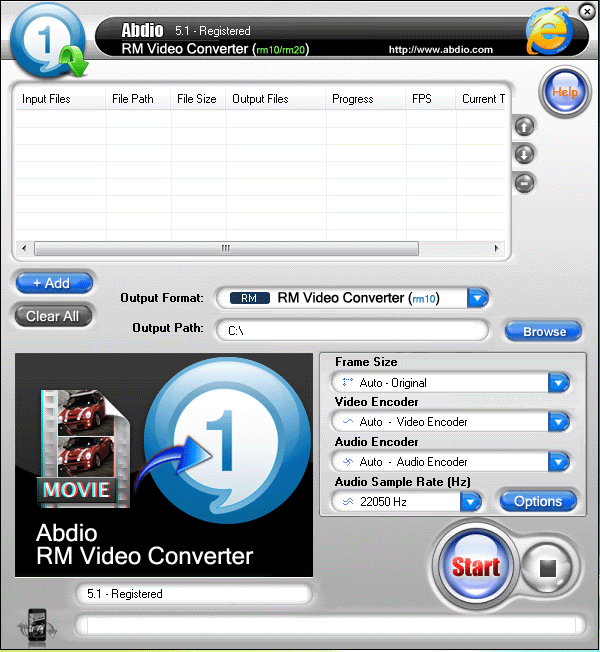 Abdio RM Video Converter Screenshot 1