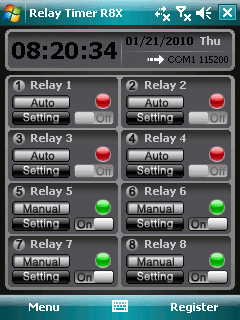 Relay Timer PPC Screenshot