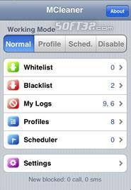MCleaner(sms/call reject) for iPhone Screenshot 2