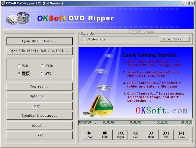 OKSoft DVD Ripper Screenshot 2