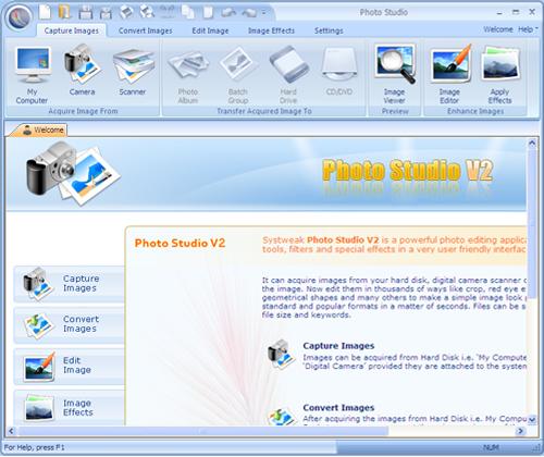 Systweak PhotoStudio Screenshot 1