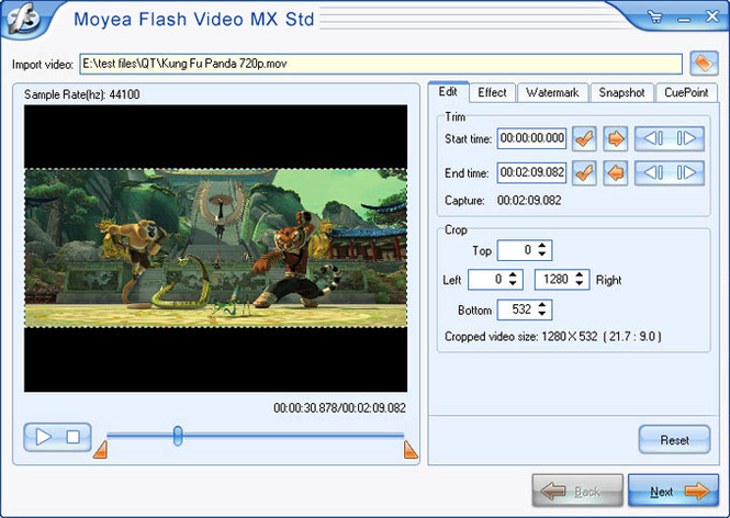 Moyea Flash Video MX Std Screenshot