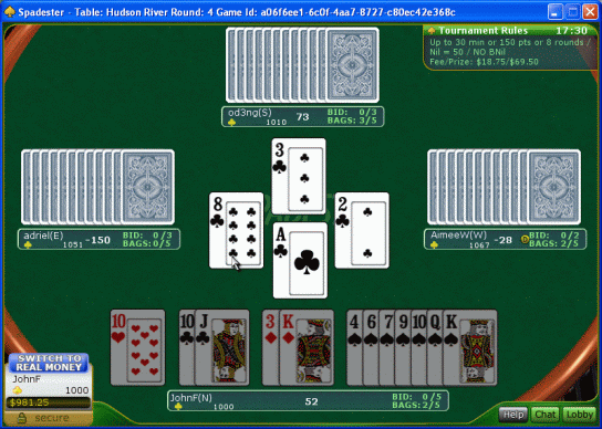 Spades Online Screenshot 2