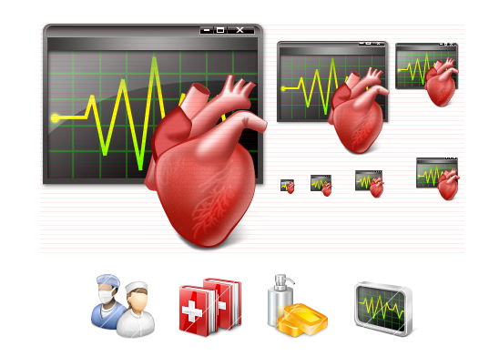 Vista Medical Icons Screenshot