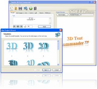 Insofta 3D Text Commander Screenshot 3