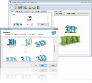 Insofta 3D Text Commander Screenshot