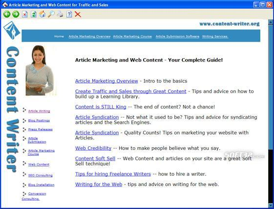 Article Marketing and Syndication Screenshot