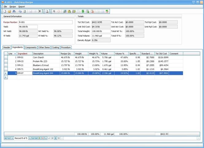 Mar-Kov Recipe Manager Express Screenshot