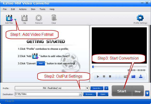 Eztoo RM Video Converter Screenshot 1