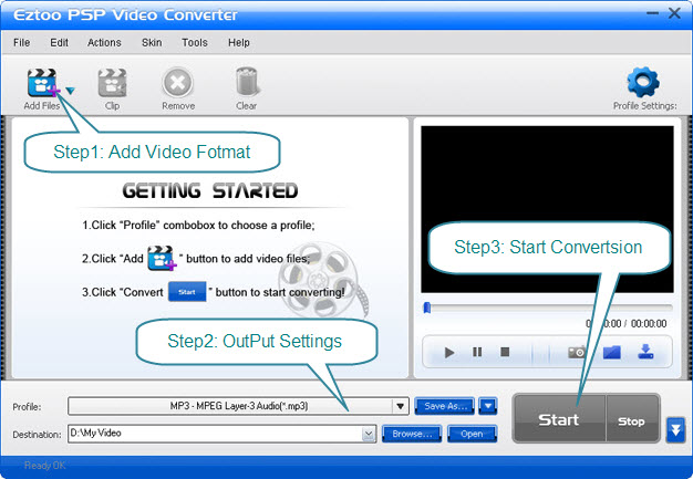 Eztoo PSP Video Converter Screenshot 1