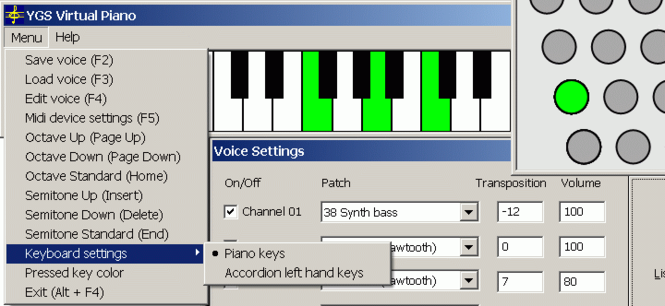 YGS Virtual Piano Screenshot