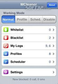MCleaner( sms/call reject) for iPhone Screenshot 3