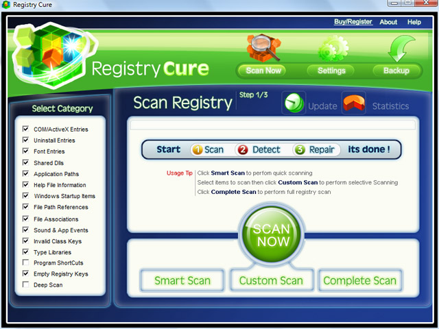 Registry Cure Screenshot