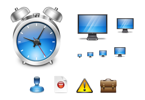 Aqua Application Icons Screenshot