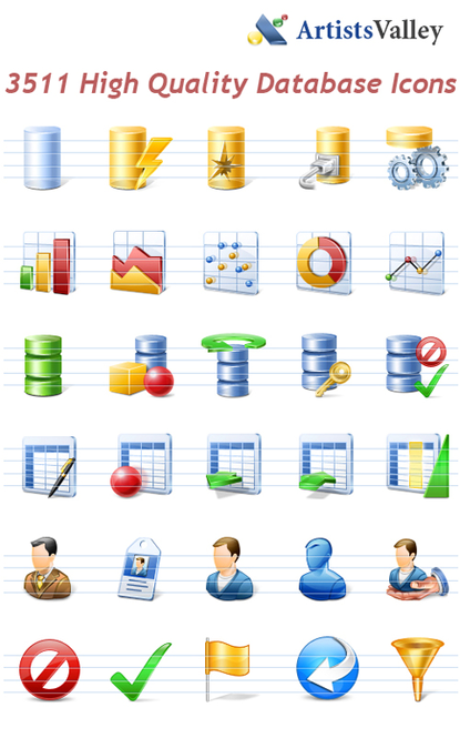 Database Application Icons Screenshot