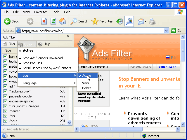 Ads Filter Screenshot 1