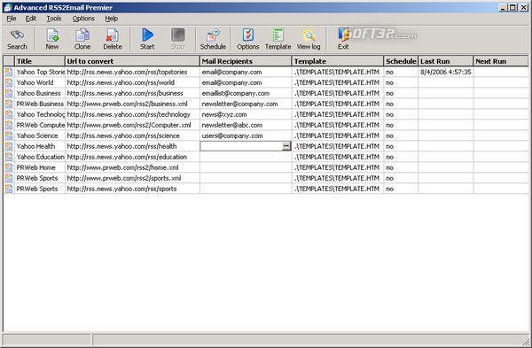 Advanced RSS2Email Professional Screenshot 3